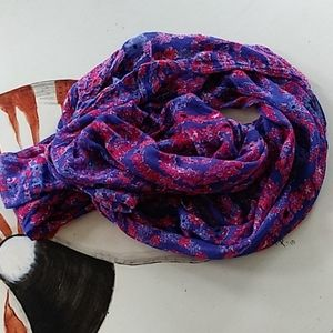 Lilly Pulitzer red floral infinity scarf